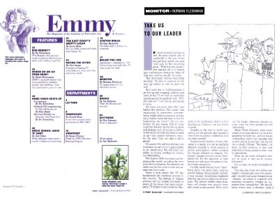 Table of Contents and Department layout | Emmy