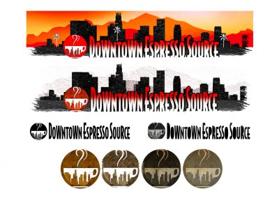 Downtown Espresso Source LOGO AND BRANDING